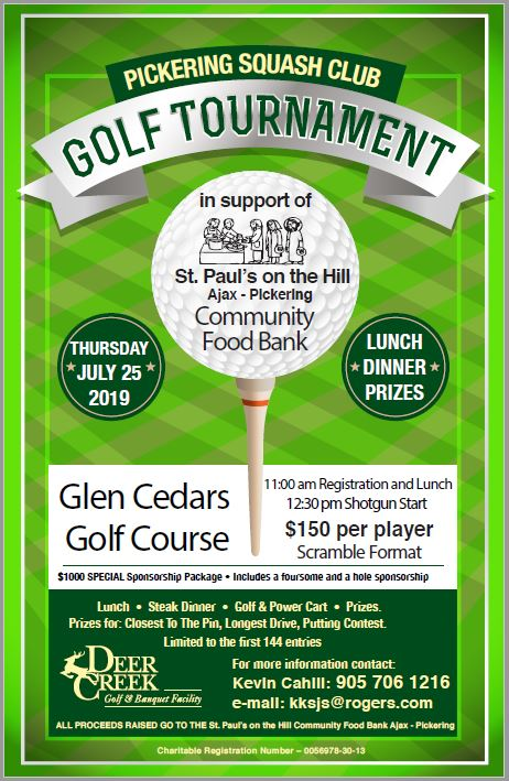 PSC Food Bank Golf Tournament -  July 25, 2019